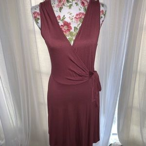 Faux wrap dress sleeveless